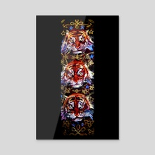 3 Tigers - Acrylic by birds