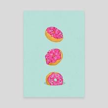 Doughnuts - Canvas by Evgenia Chuvardina