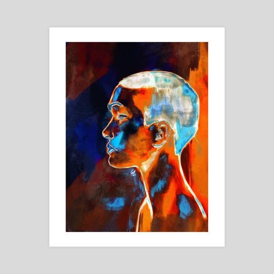 Orange on blue by Carlos Miguel  Rincón Jaramillo