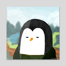 Penguinlisa - Acrylic by The Penguins Family