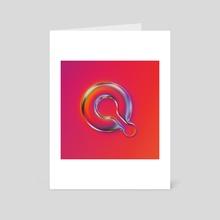 Q - 36 days of type #07 - Art Card by Martin Naumann