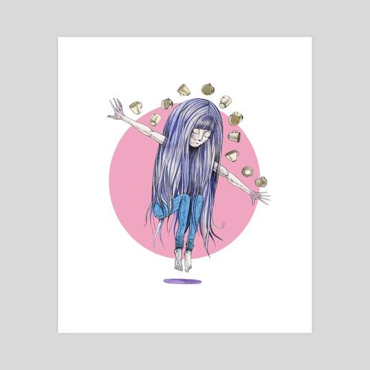 Watercolor girl by Oleksandr Shatokhin
