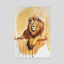 Lazy Leo in Coffee - Canvas by Howard Barry