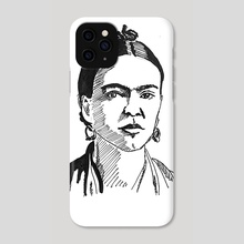 Frida Kahlo - Phone Case by Dafina Dervishi