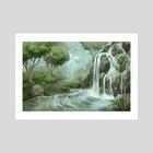 Waterfall - Art Print by Amy Gerardy