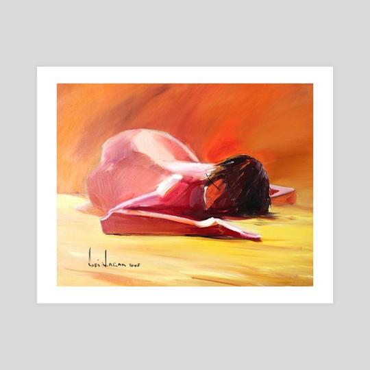 """""""Nude on yellow"""" by Anri Laran"""