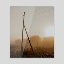 Electric main and fog - Acrylic by Artem Aniskin
