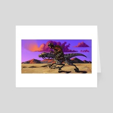 Raptor Rider - Art Card by Devon