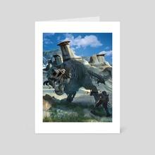 Zombie Dinosaur - Art Card by Nicholas Greenwood