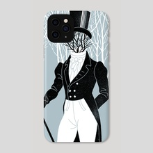 Eugene Onegin portrait - Phone Case by Anna and Elena Balbusso Twins