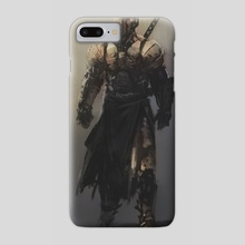 Armored Swordsman Sketch - Phone Case by Ashley Dotson