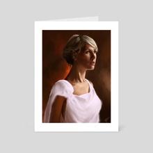 White dress - Art Card by Thomas BIGNON