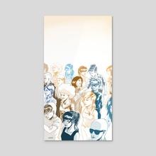 Assembly - Acrylic by Narciso Espiritu