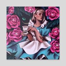 Alice in Wonderland - Acrylic by Victoria K.