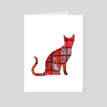 Quilted Cat - Art Card by Brontosaurus Art