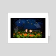 Supernatural Halloween - Art Card by Karina Gelencser
