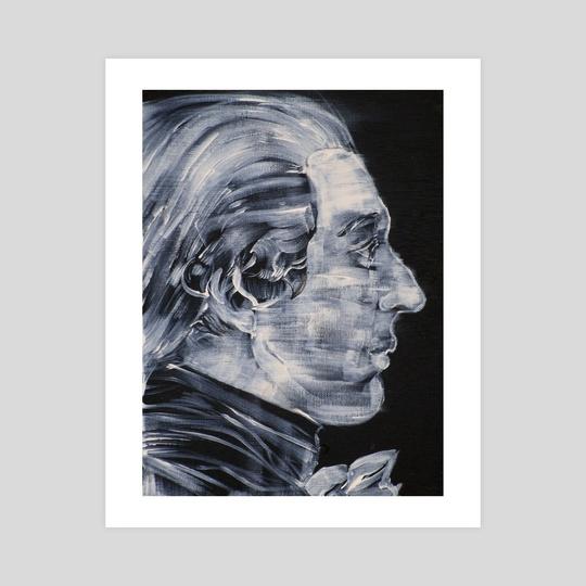 MARQUIS DE SADE acrylic potrait by LAUTIR