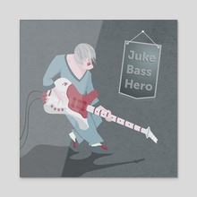 Bassist - Acrylic by Vogdux Sergik