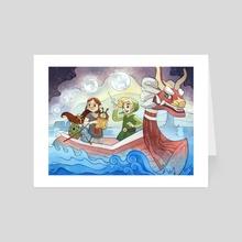 Wind on the Seas - Art Card by Mar Spragge