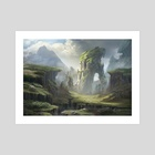Sheeps - Art Print by Frej Agelii