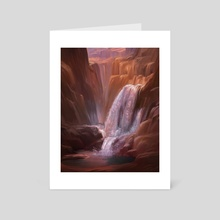 Canyon Falls - Art Card by Allison Chin