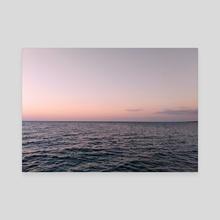 Sunset - Canvas by Natalia Ponarina