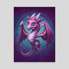 Baby Dragon - Canvas by Kerem Beyit