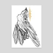 The Bird - Canvas by Anna Tsvirko