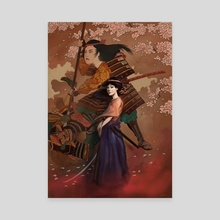 The Spirit of Tomoe Gozen I - Canvas by Rudy Faber