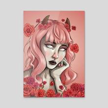 Rose Demon - Acrylic by Fern Kelly