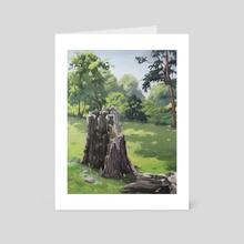 Sundial Stump - Art Card by Alex King