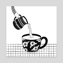 Tea for a cat. - Canvas by Sentimental Postman