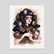 Slugs - Canvas by Bea Bastet
