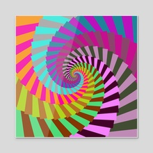Candy Spiral 150 - Acrylic by Chris Foulkes