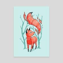Winter Fox - Canvas by Indré Bankauskaité