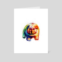 Rainbow Puppy - Art Card by Andreea Red