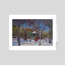 Playing in the snow - Art Card by Emi Vozmediano