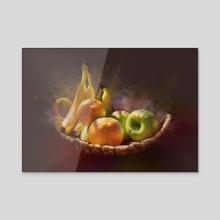 Summer fruits - Acrylic by Lubove Nazarova