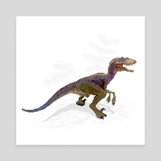 Pixelraptor by Anna Nguyen