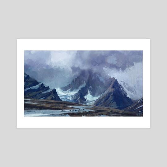 Tibetan mountainside by Jason Scheier
