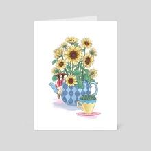 Sunflower Tea - Art Card by Suzi Spooner