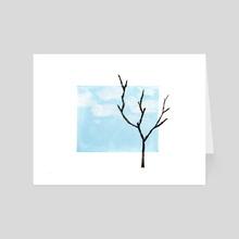 Over Blue Skies - Art Card by Joana Lourenço