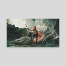 Red Sonja of Rogatino - Canvas by Jesper Andersen