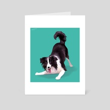 Border Collie - Art Card by Beverly Johnson
