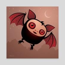 RedEye the Vampire Bat Boy - Canvas by John Schwegel