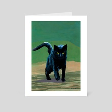 Black Cat - Art Card by Martin Flores