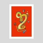 Coffee Dragon - Art Print by Jonatan Iversen-Ejve
