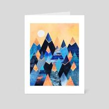 Blue Mountains - Art Card by Elisabeth Fredriksson