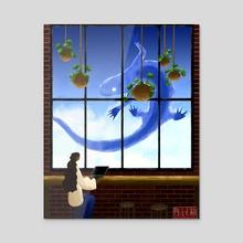 Cafe Salamander - Acrylic by Alec Chan