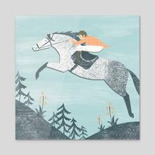 Spring Riding - Acrylic by Angela Keoghan